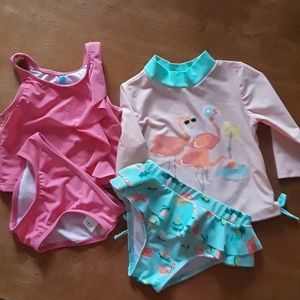 Two Baby Girl 2-Piece Swimsuit Sets!  ♥♥